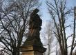 socha sv. Jana Nepomuckého před restaurováním